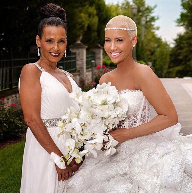 Amber Rose and Wiz Khalifa wedding