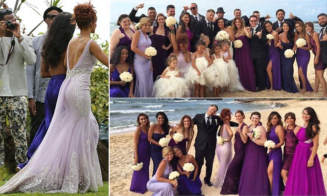Rihanna acts as bridesmaid at her assistant's wedding