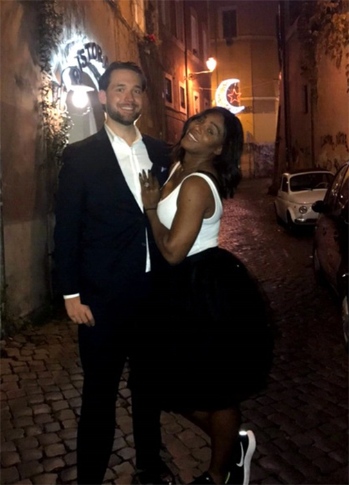Serena Williams shows off enormous engagement ring