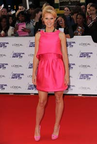 Gwyneth Paltrow, pretty in bright pink
