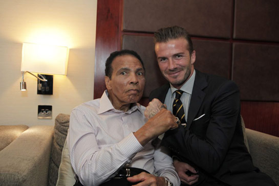 Muhammad Ali and David Beckham