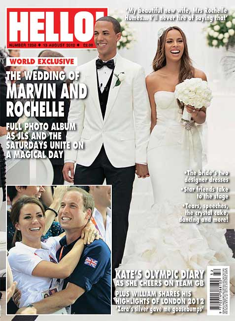 Rochelle and Marvin's stunning wedding in HELLO!