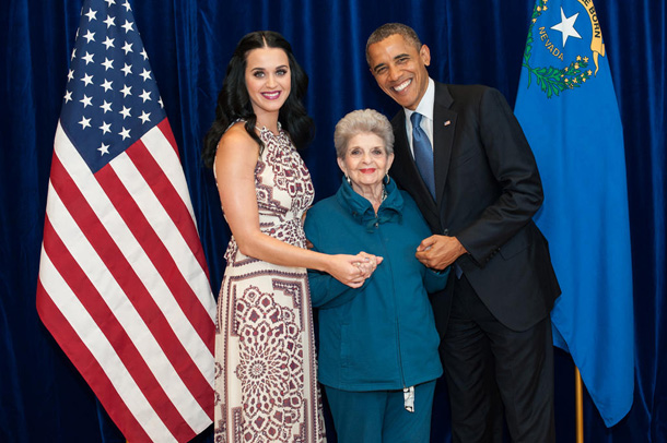 Katy Perry and Barack Obama