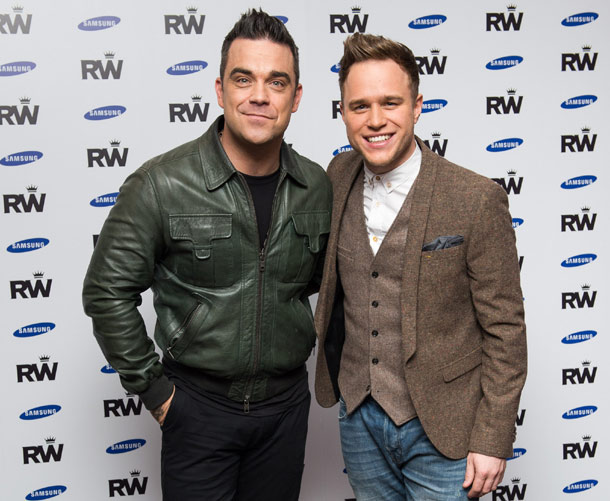 Robbie Williams and Olly Murs