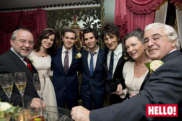 Ronnie Wood and Sally Humphreys wedding