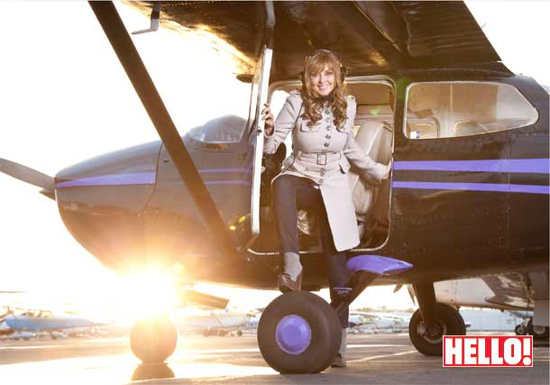 Carol Vorderman takes to the skies