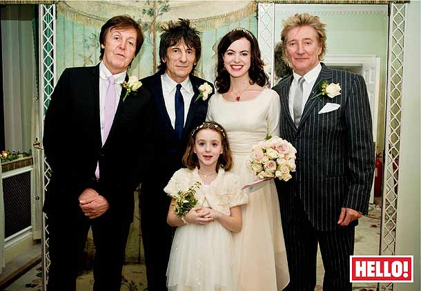 Ronnie Wood wedding