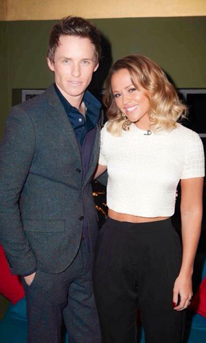 Kimberley Walsh and Eddie Redmayne