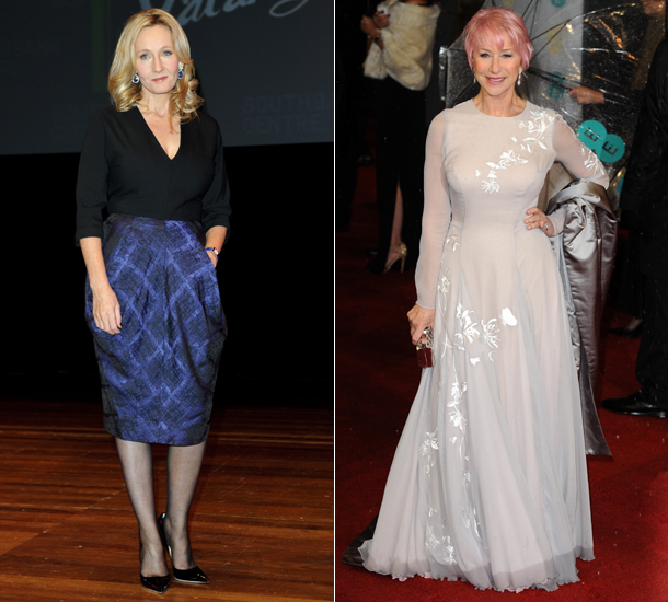 J. K. Rowling and Dame Helen Mirren