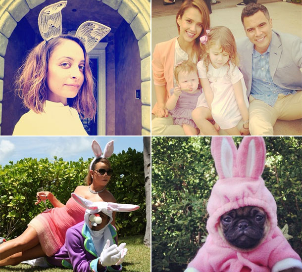 Celebrity Easter photos