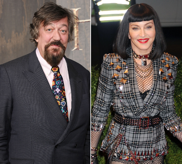 Madonna and Stephen Fry