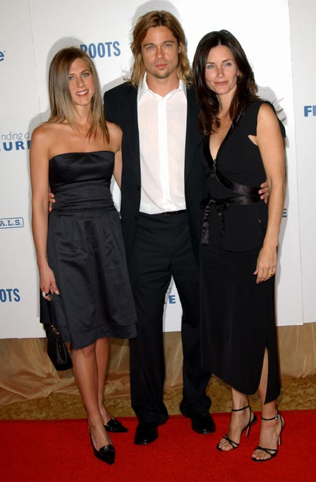 Jennifer brad and courteney