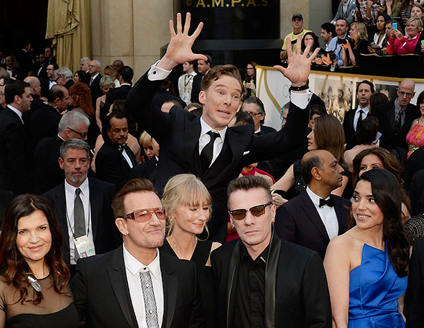 Benedict Cumberbatch and U2