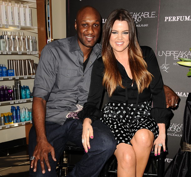 Lamar Odom and Khloé Kardashian before divorce filing