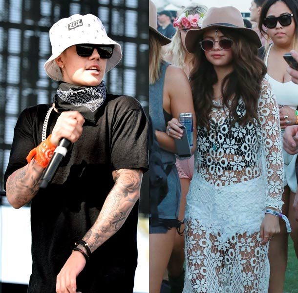 Selena Gomez and Justin Bieber at Coachella
