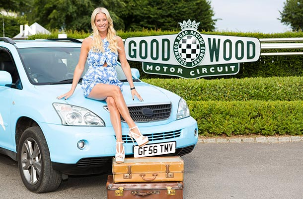 Denise Van Outen at Goodwood