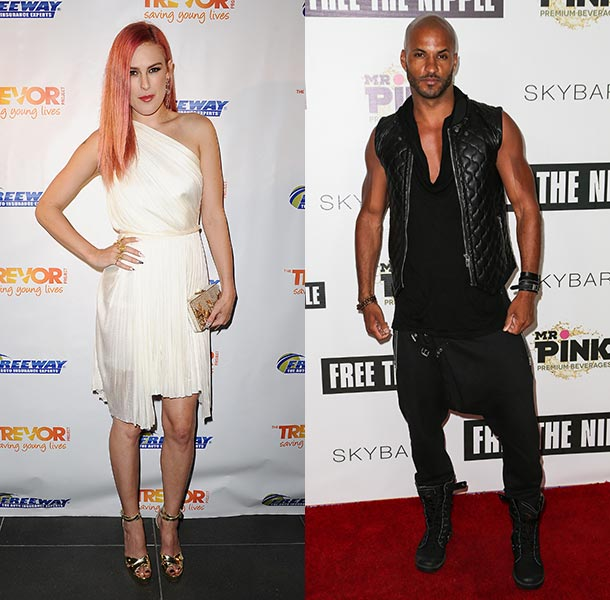 Ricky Whittle and Rumer Willis