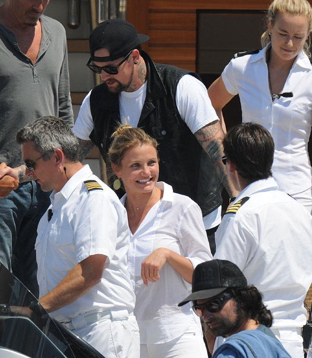 Cameron Diaz and Benji Madden in France