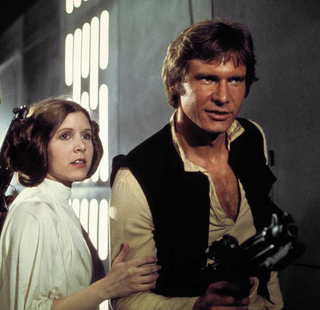 Carrie Fisher reveals she had an affair with Harrison Ford while filming first Star Wars movie
