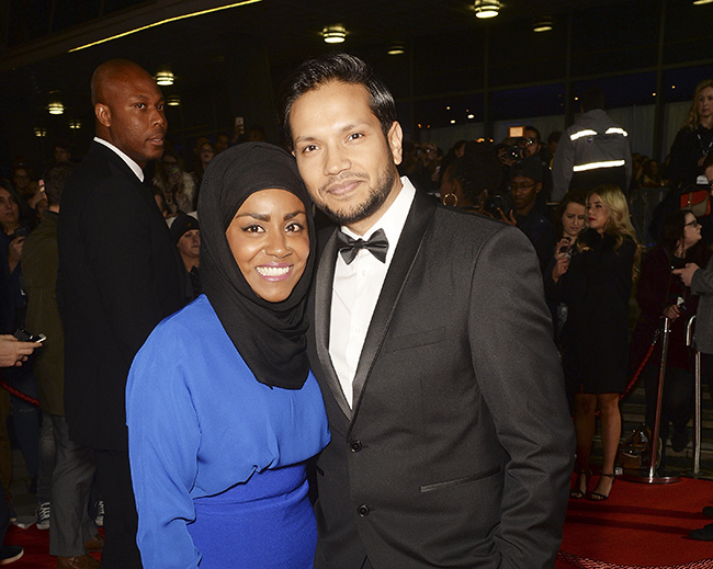 Nadiya Hussain pictured with her husband Abdal Hussain