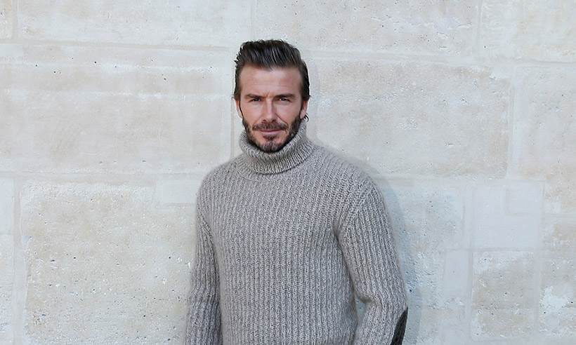 David Beckham aids elderly woman who collapsed in the street
