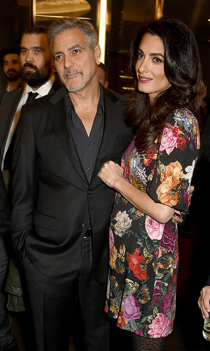 george clooney wife amal pregnant