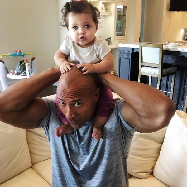Dwayne the rock and baby jasmine