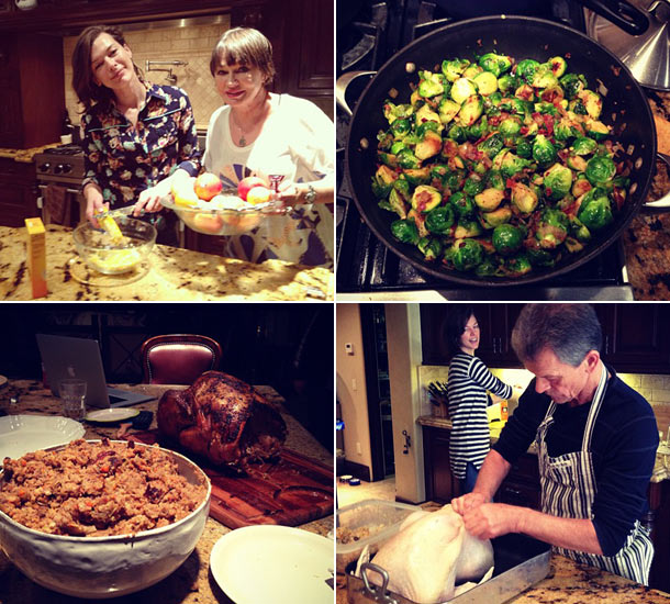 Milla Jovovich Thanksgiving Twitter photos