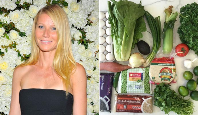 Gwyneth Paltrow dines out in LA after food challenge