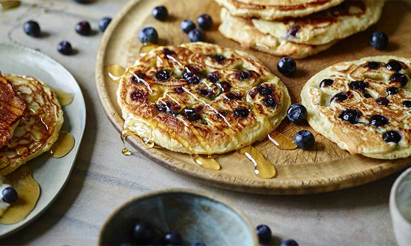 Joe wicks 39 american style blueberry pancakes recipe for American style cuisine