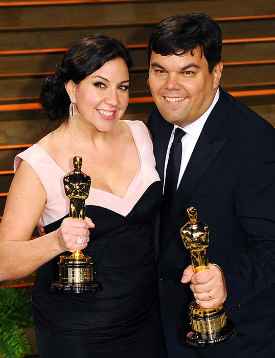 Kristen Anderson-Lopez and Robert Lopez.