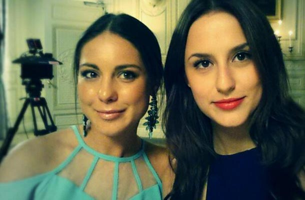 louise thompson and Lucy Watson's selfie