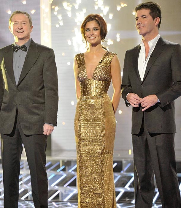 Cheryl Cole, Louis Walsh and Simon Cowell