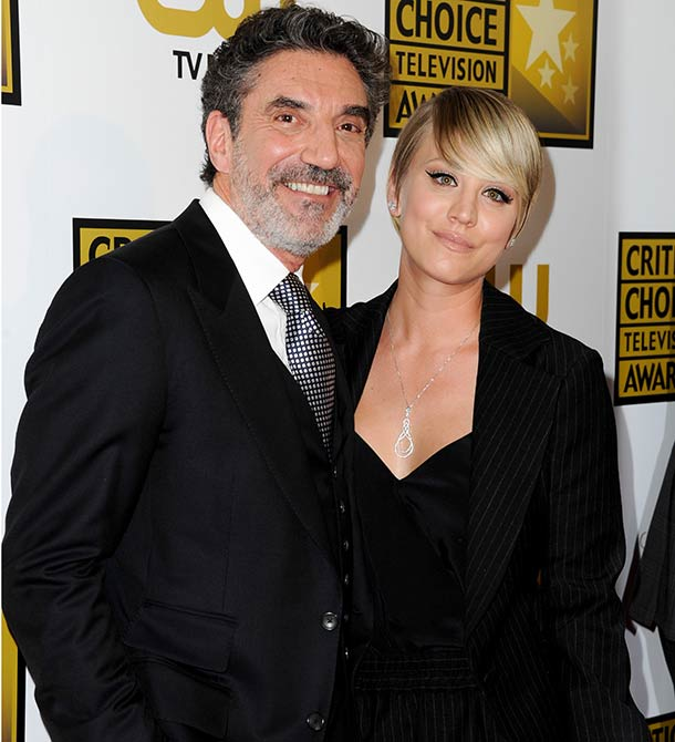 Chuck Lorre and Kaley Cuoco