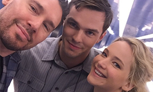 Jennifer Lawrence and Nicholas Hoult together again on X-Men set: photo