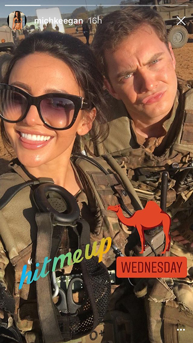 michelle-keegan-and-co-star-on-set-of-our-girl