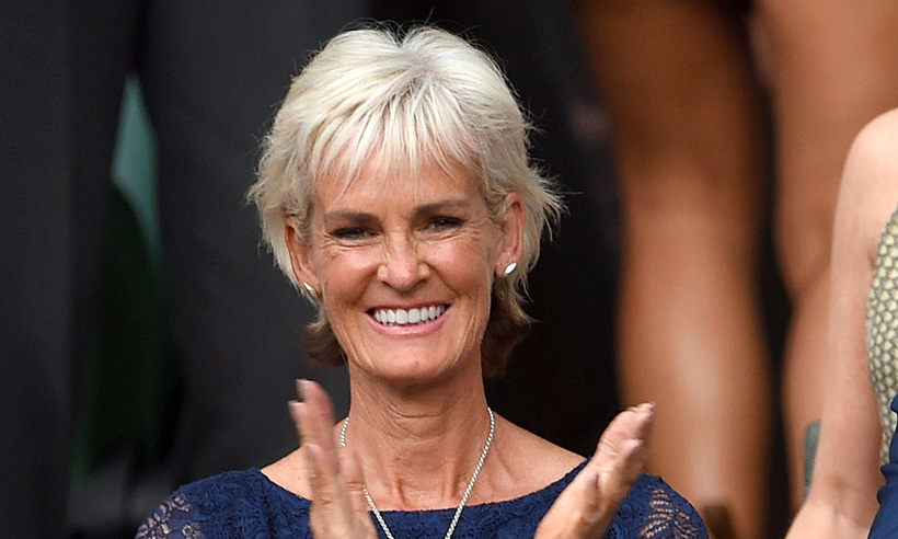 Judy Murray clapping