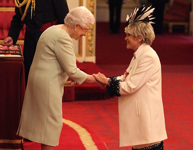 gloria-hunniford-receives-obe-from-the-queen-at-buckingham-palace