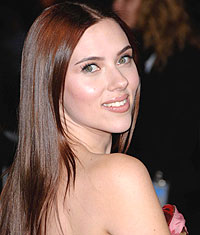 Scarlett Johansson, John Frieda, Brilliant Brunettes, Lustrous Touch, smoothing, shine