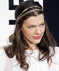 centre parting, hair, Milla Jovovich, height, Paris fashion week, flattering