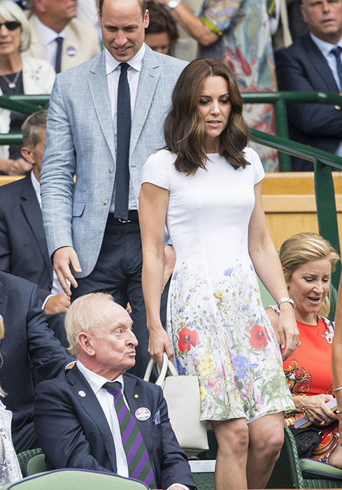 kate middleton catherine walker dress wimbledon