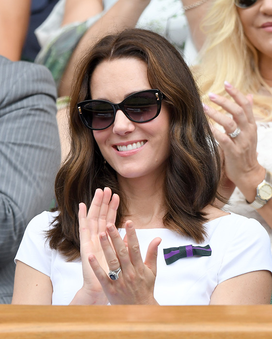 kate middleton short hair sunglasses wimbledon