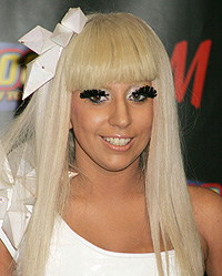 Lady GaGa,make-up,Bourjois,nude,eyes,lips