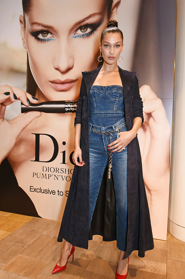 Bella Hadid at Selfridges for the Dior launch