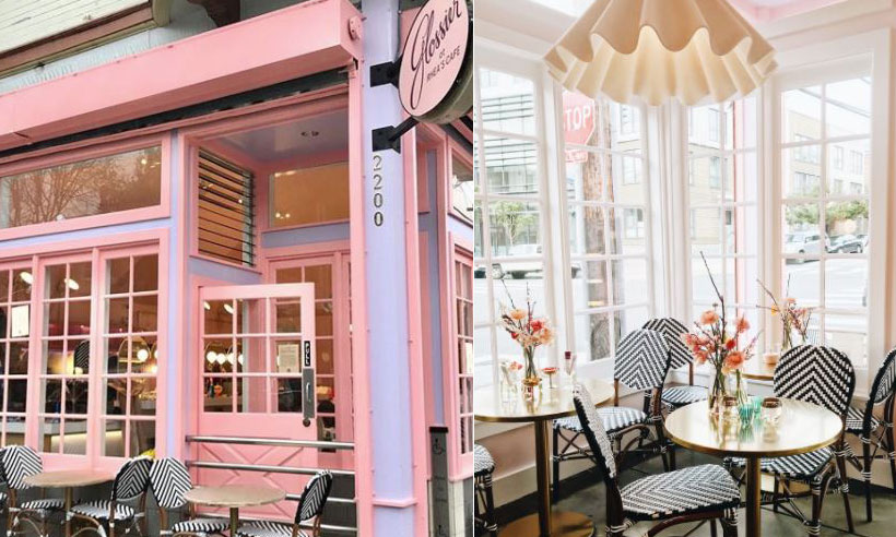 Pink Glossier cafe