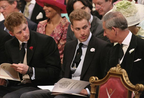 Prince Charles, William and Harry