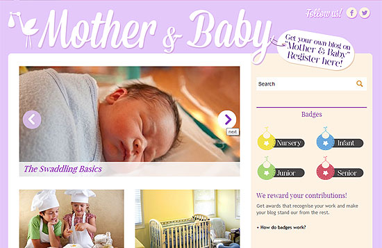 Launch of Mother & Baby blogging community