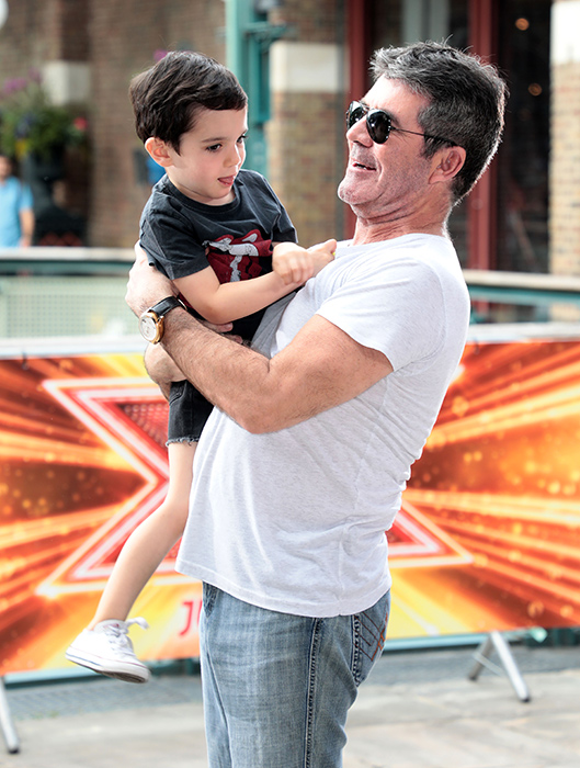 simon-cowell-and-son-eric-at-x-factor-launch