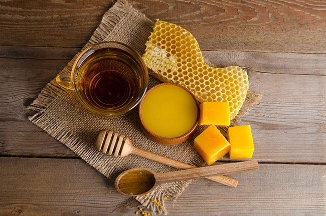 Beeswax is perfect for nourishing dry skin