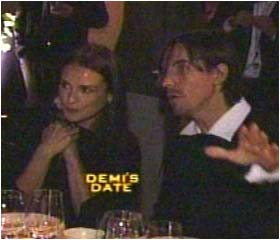 Demi Moore with new man Red Hot Chilli Peppers singer Anthony Kiedis at the Paramount Pictures' 90th anniversary party